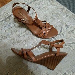 Franco Sarto Tan Leather Sandals